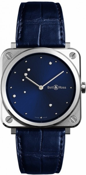 Bell & Ross Aviation Instruments BR S Blue Diamond Eagle Men's Watch BRS-EA-ST/SCR