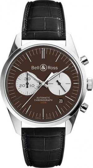 Montre Vintage Bell & Ross 41mm pour homme BRG126-BRN-ST/SCR2-B-A-045