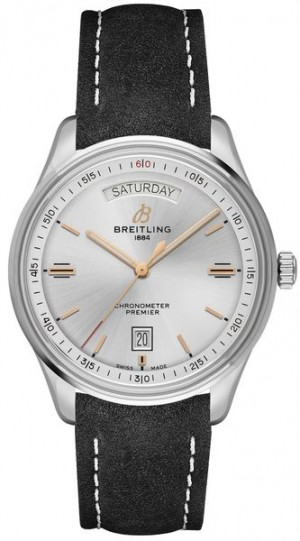 Montre Breitling Premier Automatic Day & Date 40 Silver Dial Men's Watch A45340211G1X4