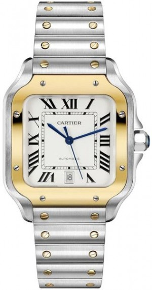 Montre pour homme Cartier Santos De Cartier Medium Gold & Steel W2SA0007