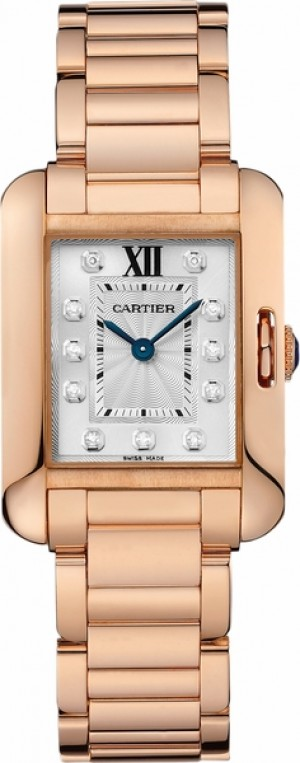 Cartier Tank Anglaise Solid Rose Gold Petite Women's Watch WJTA0004