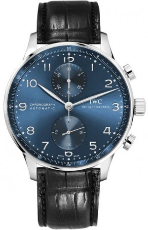 IWC Portugieser Classic Blue Dial Chronograph Men's Watch IW371491