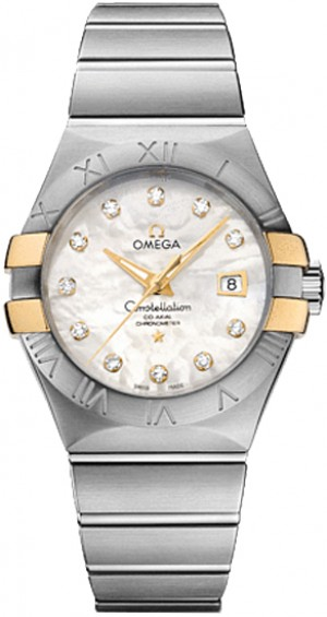 Omega Constellation Diamond Hour Markers Women's Watch 123.20.31.20.55.004