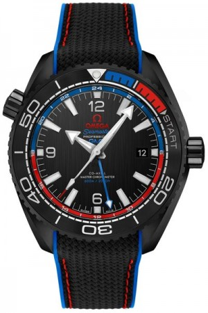Omega Seamaster Planet Ocean Co-Axial Master Chronometer GMT Montre pour hommes 215.92. 46.22.01.004