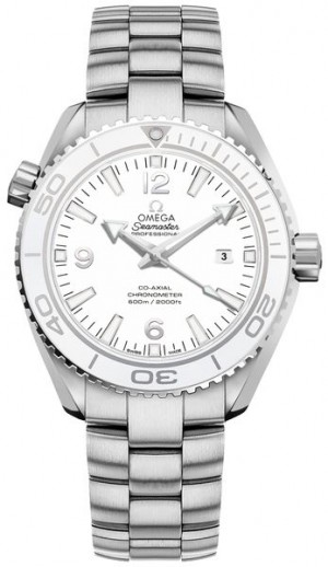 Omega Seamaster Planet Ocean White Dial Montre de taille moyenne 232.30.38.20.04.001