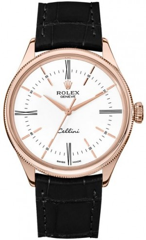 Rolex Cellini Time White Dial 39mm Luxury Men's Watch 50505