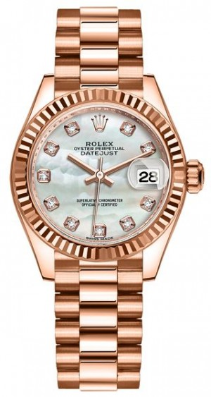Rolex Lady-Datejust 28 Mother of Pearl Women's Watch 279175