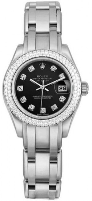 Rolex Masterpiece Pearlmaster Diamond Bezel Women's Watch 80339