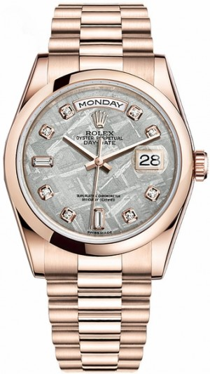 Montre Rolex Day-Date en or 36 diamants 118205