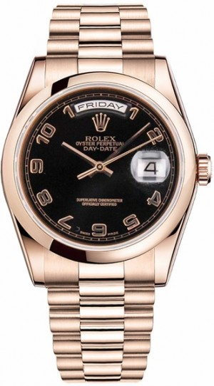 Montre Rolex Day-Date 36 en or rose 118205
