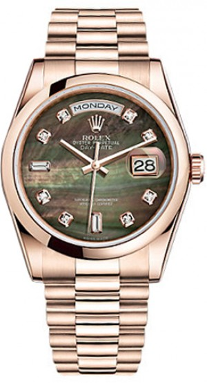 Montre Rolex Day-Date 36 en or massif 118205