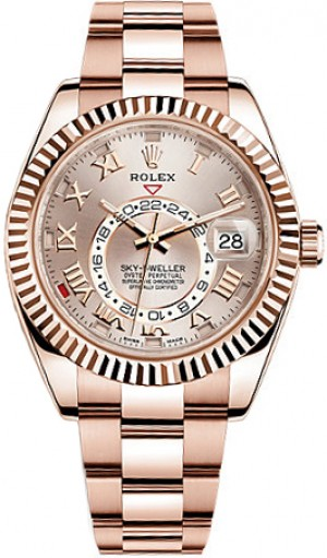 Montre Rolex Sky-Dweller en or rose 326935